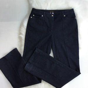 ESCADA Dark Wash Wide Leg Seamed Jeans 40 Size 10